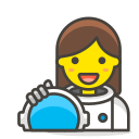 1, astronaut, woman icon