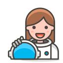 2, astronaut, woman icon