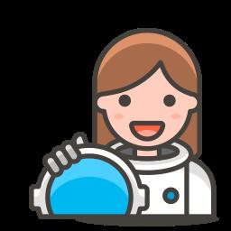 2, astronaut, woman icon