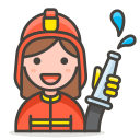 2, woman, firefighter icon