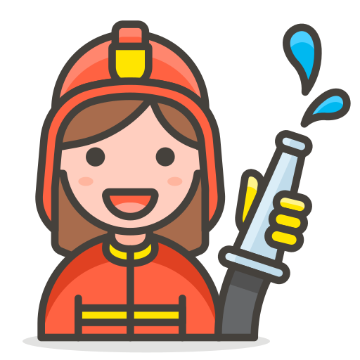 2, firefighter, woman icon