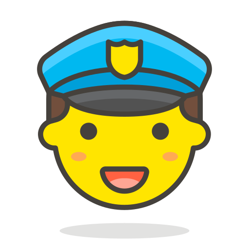 1, man, officer, police icon