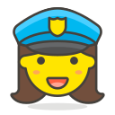 1, officer, police, woman icon