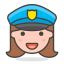 2, woman, police, officer icon