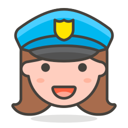 2, officer, police, woman icon
