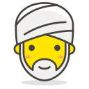 person, turban, wearing icon