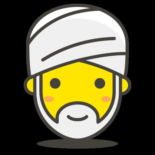 1, person, turban, wearing icon