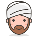 wearing, person, 2, turban icon