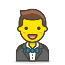 1, in, man, tuxedo icon