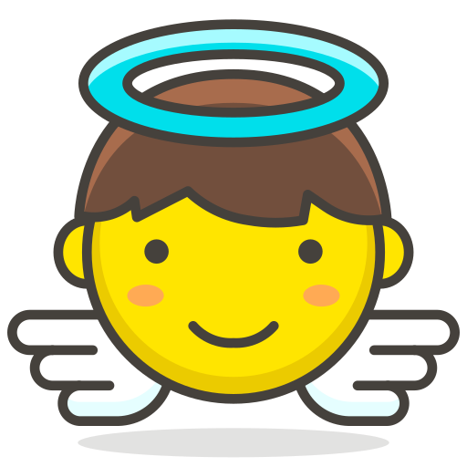 1, angel, baby icon