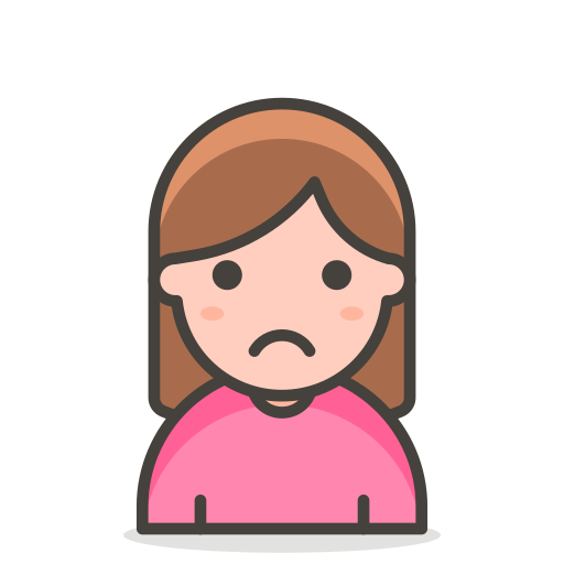 2, frowning, woman icon