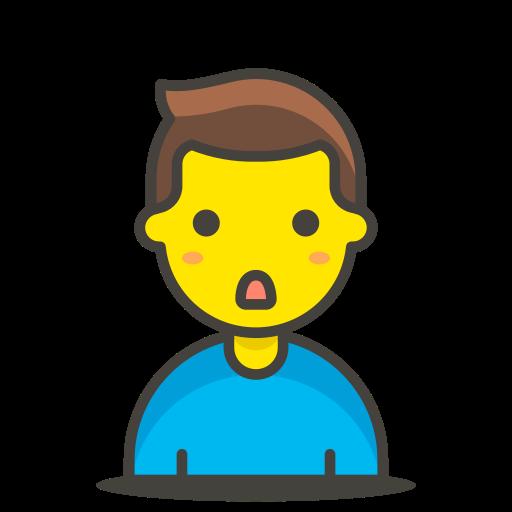 1, man, pouting icon
