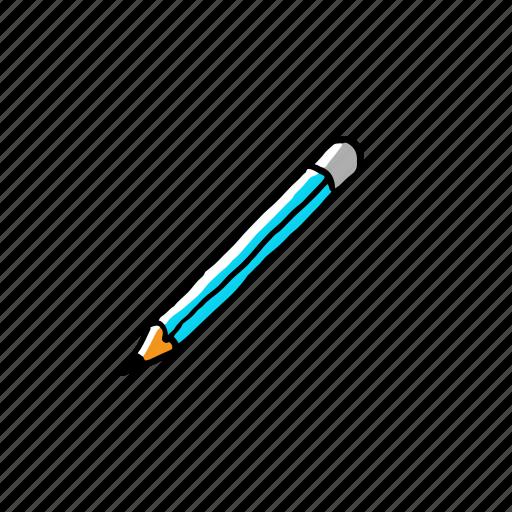 art, equiptment, hand drawn, pencil, street icon