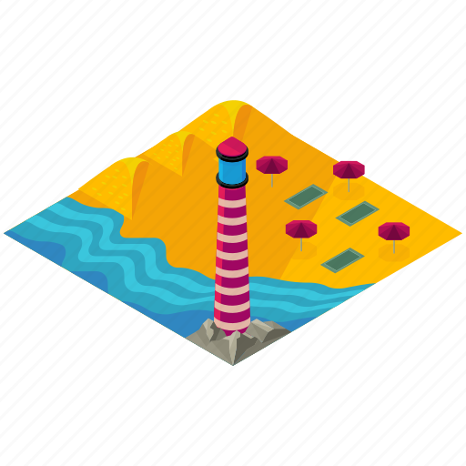 beach, elements, ocean, sea, street, summer icon