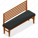 bench, couch, elements, park, seat, street icon