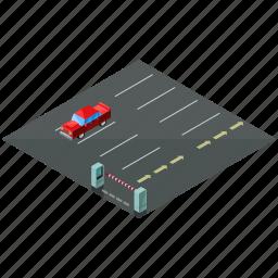 car, elements, lot, parking, street, vehicle icon