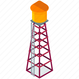 element, ladder, street, tower, water icon
