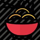 noodles, bowl, food, ramen, soup