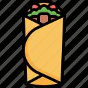 shawarma, fast, food, turkish, junk, oriental, meat