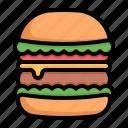 burger, hamburger, fast, food, sandwiich, junk, beef