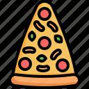 pizza, slice, food, restaurant, fastfood, junk