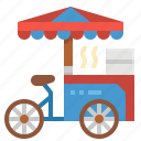 cart, fast, food, restaurant, stand icon
