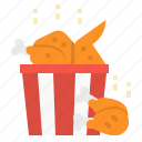 chicken, food, fried, leg, wing icon