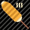 bbq, corn, food, grilled, vegan icon