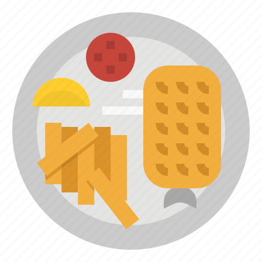 chip, fish, food, french, fries icon