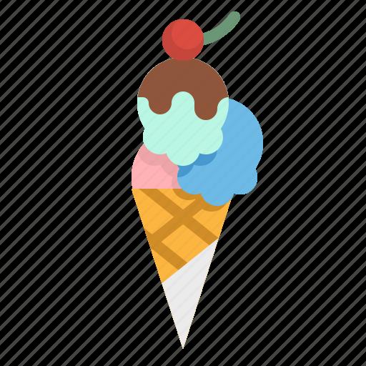 dessert, gelato, icecream, summer, sweet icon