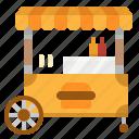 burger, food, kiosk, stand, umbrella icon