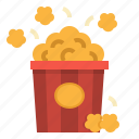 cinema, entertainment, movie, popcorn, snack icon