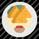 cultures, food, indian, sambusas, samosa icon