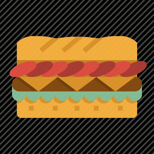 baguette, brunch, food, junk, sandwiches icon