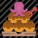 food, japan, octopus, street, takoyaki