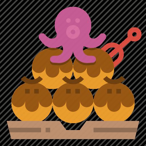 food, japan, octopus, street, takoyaki icon