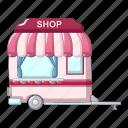 shop, cartoon, auto, fastfood, concept, street, fast icon