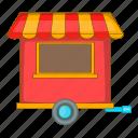 food, sale, street, trailer icon