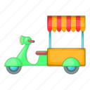 cart, food, moto, sale icon