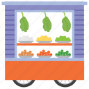 food stall, street stall, vegetable kiosk, vegetable stall icon