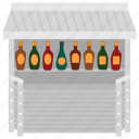 beverages kiosk, food stall, sauces stall, street market, street stall icon