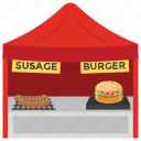 burger point, fast food, food booth, food stall, street shop icon