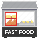 fast food, food point, food stall, market booth, street shop icon