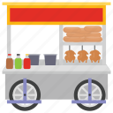 food point, market stall, meat food, meat stall, street food icon