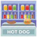 fast food, food stall, hot dog, market stall, street stall icon