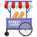food cart, food stall, street food, street stall, vendor food icon