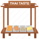 food cart, food stall, street food, street stall, thai food icon