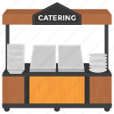 catering business, catering service, catering stall, market stall, street stall icon