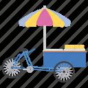 food cart, street food, street stall, trade cart, vendor food icon
