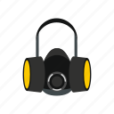 mask, filter, respirator, protection, health, safety, pollution icon